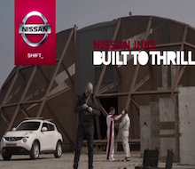 Nissan Juke:<BR />Built To Thrill<BR /><BR />Location Sound<BR />Sound Design<BR />ORIGINAL Music<BR />Dubbing Mix